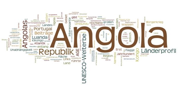World Heritage in Angola (Wordle)