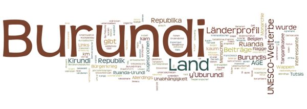 World Heritage in Burundi (Wordle)