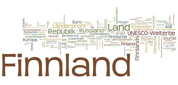 World Heritage in Finnland (Wordle)