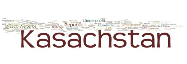 World Heritage in Kasachstan (Wordle)