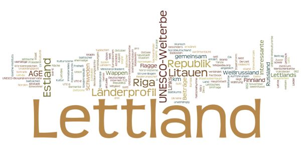 World Heritage in Latvia (Wordle)