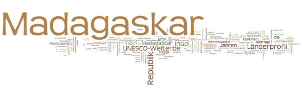 World Heritage in Madagascar (Wordle)
