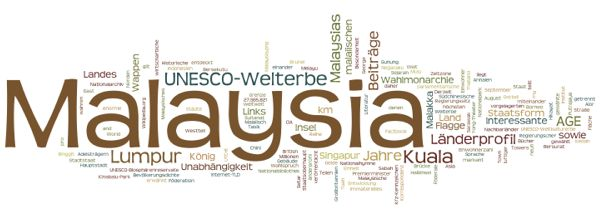 World Heritage in Malaysia (Wordle)