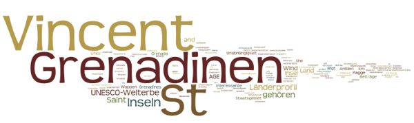 World Heritage Saint Vincent and the Grenadines (Wordle)